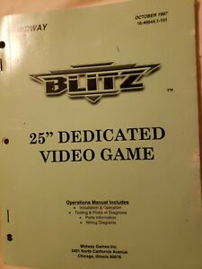 """Blitz Operations Manual by Midway 25"""" Dedicated Video Game"""