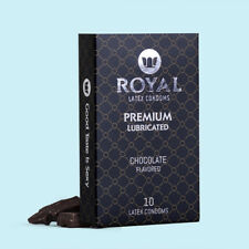 Royal Chocolate Flavored Condoms Ultra Thin Lubricated Organic Latex, 10 Pack