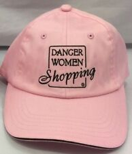 New Danger Women Shopping A Career Choice Pink Strap Back Hat Cap