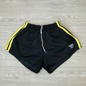 Adidas Vintage Men's Sports Shorts - Black - Medium M - Nylon Running Sprinter