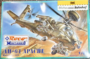 AH-64 Apache Helicopter Roco 718 Mini Tank Kit Unbuilt 1:87 Boxed UD2 Μ
