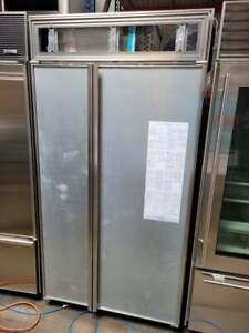 "SubZero 42"" Side by Side Refrigerator Freezer & Ice Maker Panel Ready"