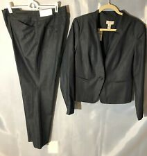 Ann Taylor LOFT lightweight cotton blend pant suit (trouser, jacket) NWT size 12
