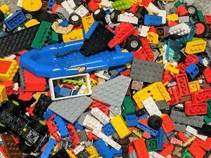 Lego Mixed job lot 1kg pieces Bricks Plates Windows Wheels etc Red Blue Grey etc