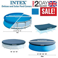 Intex Debris/Weather All Size Pool Covers, Solar Swimming Pool Protecting Sheets