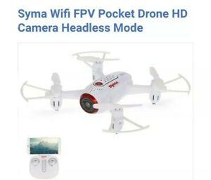 Syma Wifi FPV Pocket Drone HD Camera Headless Mode Flying Toy Gift