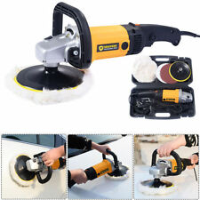 "New 7"" Electric 6 Variable Speed Car Polisher Buffer Waxer Sander Detail Boat ++"