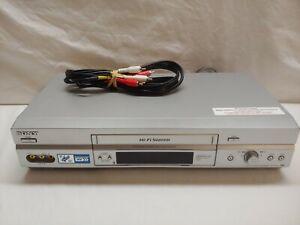 Sony SLV-N750 VCR VHS Player Recorder 4 Head Hi-Fi W/ av cords TESTED