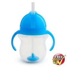 New listing Toddler Cup In Blue With Weighted Straw & Easy Handles For Kids Safe Material