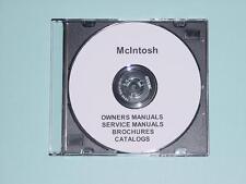 over 350 McIntosh Owners & Service Manuals & Brochures  (original color scans)