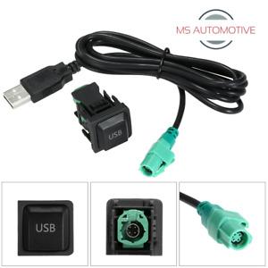 VW USB PORT DASH SOCKET CABLE WIRE AFTERMARKET RADIO GOLF MK5 MK6 T5