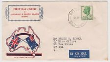 Stamp Australia 6&1/2d green KGV1 on Standard Stamp Co generic cachet FDC nice