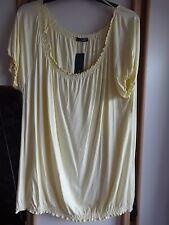 #Y22 - Lemon Short Sleeve Elasticated Hem Top From Jessica @ C&A - Size XL- BNWT