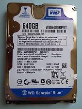 Western Digital WD 6400 bpvt - 80hxzt1 | DMC: hhctjhn | 14 may 2011 | 640 GB