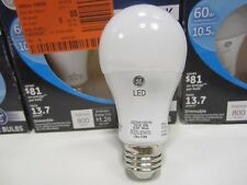 (12) GE 60W Equivalent Soft White A19 Dimmable LED Soft White, 800 Lumens 2700K