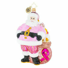 Christopher Radko Menagerie Pretty in Pink Cancer Charity Glass Ornament 1019508