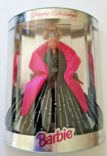 1998 HAPPY HOLIDAY BARBIE NRFB BOX 20200 SPECIAL EDITION black/pink/silver