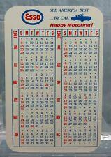Vintage Advertising Pocket Wallet Calendar Card: 1967 ESSO GAS OIL Wilmington DE