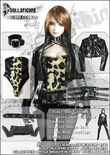 CC99 1/6 Sexy Leopard Style Black Biker Clothing Full Set for HOT TOYS,CY GIRL