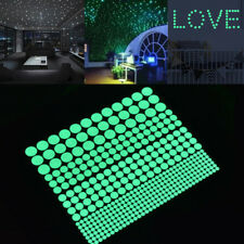 407pcs/Sheet Glow in the Dark Round Dot Wall Stickers Luminous Kids Room Decor
