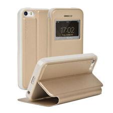 Flip Case für Apple iPhone 5 / S / SE Echtes Leder Flip Brieftasche Schutz #NG8