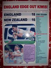 England 18 New Zealand 16 - 2018 Rugby League international - souvenir print