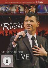"""SEMINO ROSSI """"DIE LIEBE BLEIBT (LIVE)"""" 2 DVD NEW+"""