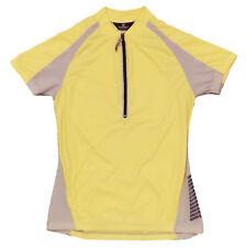 Canari Commuter Cycling Reflective Jersey Womens Small S SM Yellow Short Sleeve