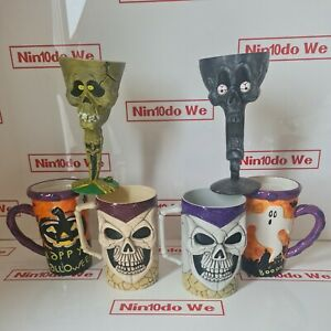 Halloween Cups And glasses /party tableware decoration =4 Plastic /2 Porcelain