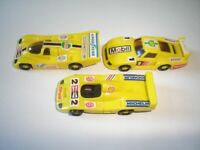 YELLOW PORSCHE RACE MODEL CARS RACING SET 1991 1:87 KINDER SURPRISE MINIATURES
