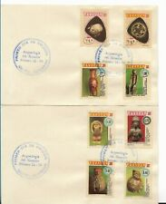 ECUADOR 1976, ARCHAEOLOGICAL DISCOVERIES, COMPLETE SETS ON 4 FDC, ARCHAEOLOGY