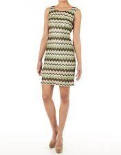 Damenkleid 38 Jerseykleid Etuikleid Abendkleid Zick-Zack Khaki apart 890093 777