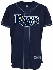 Tampa Bay Rays Jersey 3XL Home Navy Majestic MLB Embroidered Logos