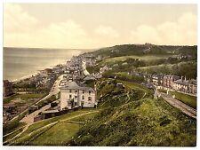2 Victorian Views Pictures Sandgate Kent Promenade Beach Old Vintage Photos Set