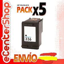 5 Cartuchos Tinta Negra / Negro HP 336 Reman HP PSC 1500 Series