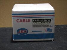 RG-58/U BLACK COAXIAL CABLE 500'