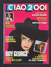 CIAO 2001 27/1987 BOY GEORGE  JOPLIN U2 FIORDALISO WHITNEY HOUSTON POSTER BOWIE