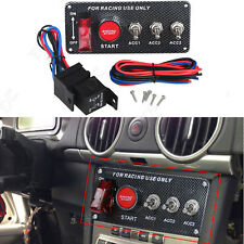 12V Racing Car Engine Start Push Button Ignition Switch Panel LED Toggle Switch