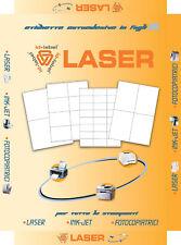 Etichette bianche multiuso 38x21,2mm 100 ff Laser e Inkjet