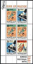 Nederland NVPH 1541 - EVER MEULEN CHILD WELFARE MUSIC S/S - 1992  - **MNH