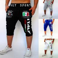 Mens Casual Hip Hop Dance Sweatpants Sport Harem Pants Shorts Cropped Trousers