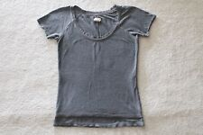 Gap (Product) Red Women's Gray Knit Tee Shirt Size Small