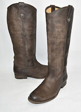 Frye 77172 Melissa Button Leather Riding Boot Brown Slate Size 8 B  $349