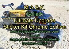 MASK M.A.S.K. Goliath Ultimate Upgrade Sticker Label Kit - Chromium Edition