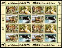UNO Wien ZD-Bogen MiNr. 303-06 postfrisch MNH Bedrohte Tierarten (Y1459