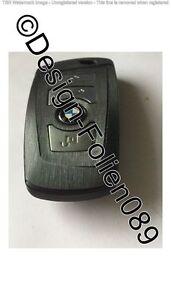 Schwarz Gebürstet Glanz Schlüssel Folie BMW F-Serie F01 F02 F10 F11 F12 F13 F25