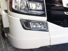 Scania S SERIES Chrome Fog Lamp trims Polished Stainless Steel.