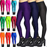 New Women's Shiny High Waist Stretchy Disco Dance Ladies Leggings Pants SM & ML