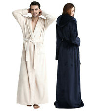 Warm Soft Hooded Bathrobe Unisex Adult Plush Fleece Robe