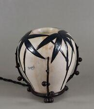 DEGUÉ & CAZAUX : FRENCH 1930 ART DECO LAMP  perfume burner night lamp veilleuse